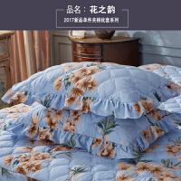 加厚夹棉枕套 韩版枕头套信封式枕皮花边枕套一对() 48X74