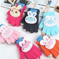 新款可爱卡通儿童手套冬季保暖针织手套加厚可爱宝宝手套