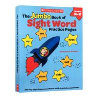 现货正版 Scholastic学乐200个高频词英文原版书 The Jumbo Book of Sight Word