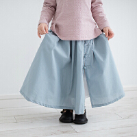 儿童汉服中式裙子春秋女童宝宝纯棉盘扣民族风复古半身长裙唐装