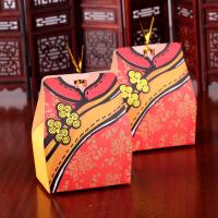 创意喜糖盒子 欧式 结婚用品喜糖包装 喜糖盒子 创意婚庆糖盒 中号(可装三颗费列罗)
