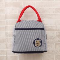 手提午餐包学生便当包饭盒袋手拎妈咪包带饭包简约饭盒包袋帆布小