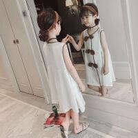 童装女童夏装新款连衣裙韩版儿童长裙洋气公主裙夏季白色裙子