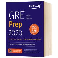 卡普兰GRE备考2020 英文原版 GRE Prep 2020 Kaplan Test Prep 进口出国留学备考用书 专业备考策略 英文版原版英语美国高考书籍