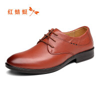 【红蜻蜓618开门红、领�患�100】红蜻蜓真皮男鞋2019新款正品男士系带软底休闲鞋子男皮鞋