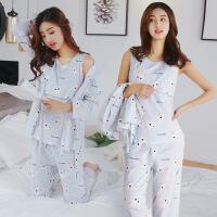 夏季月子服三件套春夏纯棉产后薄款哺乳衣孕妇睡衣产妇喂奶衣套装