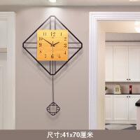 钟表挂钟客厅创意现代简约北欧石英钟大气静音个性家用设计感时钟 20英寸以上