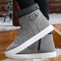冬季英伦雪地靴男防滑保暖加绒棉鞋男高帮鞋潮流短靴防水马丁棉靴