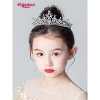 小孩装饰女孩演出发饰儿童皇冠头饰公主女童王冠发箍