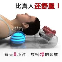 牵引按摩枕头电动多功能加热颈椎按摩器颈腰肩部颈椎枕按摩仪器材