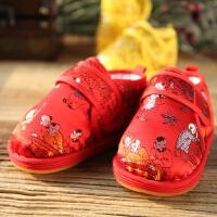 宝宝虎头鞋新年唐装鞋儿童手工棉鞋婴儿周岁男童女童布鞋学步鞋冬