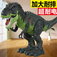 大号电动恐龙玩具 霸王龙行走下蛋遥控智能仿真动物套装男孩儿童