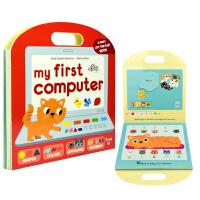 我的一套电脑my first computer 英文原版绘本 纸板翻翻页抽拉书 儿童启蒙操作图画书