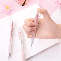日本樱花可爱 晨光低重心女小学生2比铅笔文具小清新0.5自动铅笔
