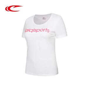 赛琪运动短袖T恤女子夏季新款字母棉时尚跑步透气半袖圆领T恤上衣116320