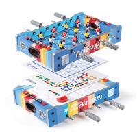 儿童足球游戏桌小桌子木制4合1桌上足球台冰球台象棋飞行棋 玩具男孩女孩