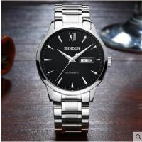 全自动机械表男表防水商务休闲男士手表时尚双日历钢带手表