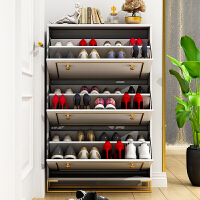 20191224081447607超薄翻斗鞋柜17cm白色欧式轻奢入户玄关柜进门大容量门口鞋橱家用