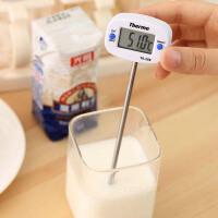 高精度温度计水温计婴儿奶温计厨房家用防水淋浴电子探针式测水温油温食品温度仪