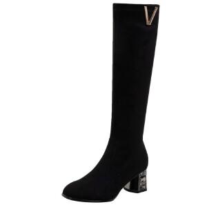 WARORWAR法国新品YG09-H519冬季欧美羊反绒低跟两穿女士靴子马丁靴