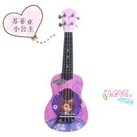 ?21寸卡通儿童尤克里里ukulele乌克丽丽夏威夷木质四弦小吉他