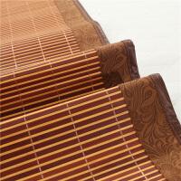 新款竹席凉席1.8m床折叠竹+冰丝双面长2米×2.2m床席0.9宽席子1.5