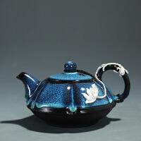 建盏茶壶陶瓷家用窑变天目釉油滴功夫茶具单壶日式泡茶壶
