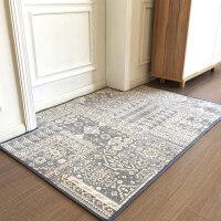 北欧几何系列 地垫进门脚垫入户门口地毯客厅卧室茶几毯 可 浅灰