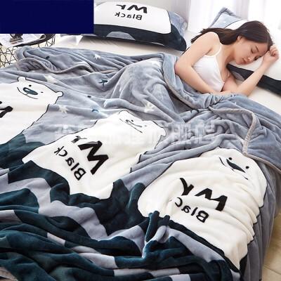 被子秋天秋季午睡薄款宝宝宿舍午觉柔软毛毯单人床空调加厚绒毛子