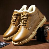 冬季棉鞋韩版潮流雪地靴男士加绒加厚棉靴学生中帮短靴休闲运动鞋