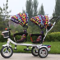 双胞胎夏季儿童三轮车宝宝脚踏车推车旋转椅小孩童车双人婴儿手推车