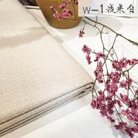 北欧素色珠光粗麻亚麻面料沙发布料棉麻加厚靠垫抱枕桌布 浅米白 w-1
