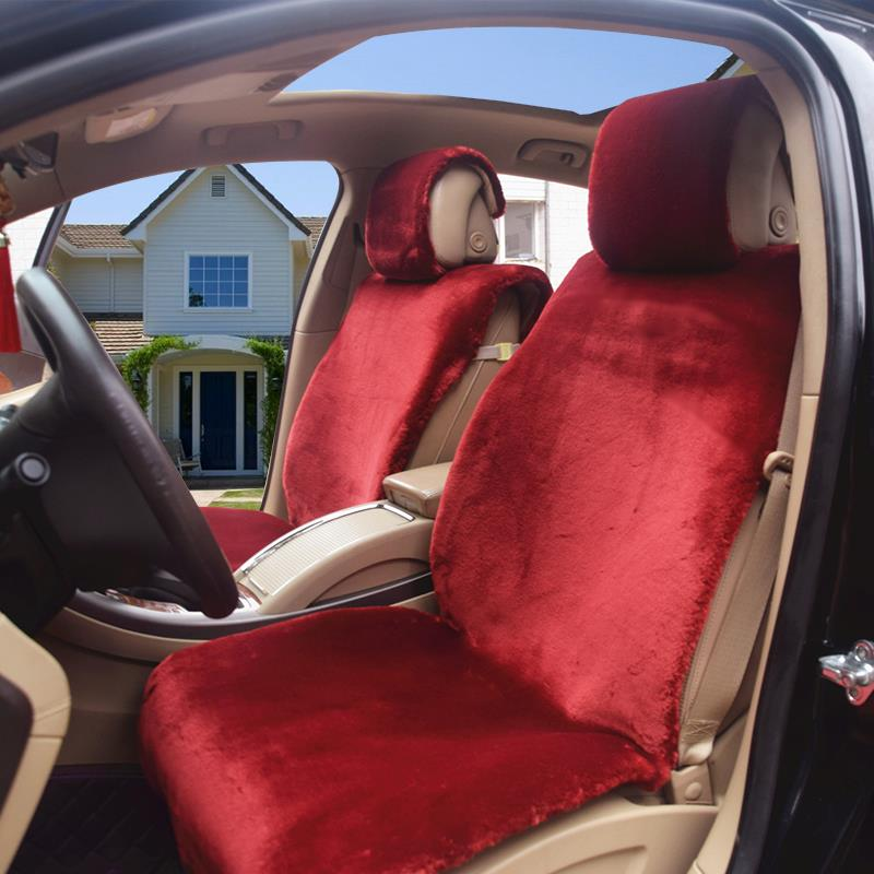 羊毛汽车坐垫冬季短毛奥迪Q3Q5A6L福特翼虎奇骏锐界羊剪绒座垫