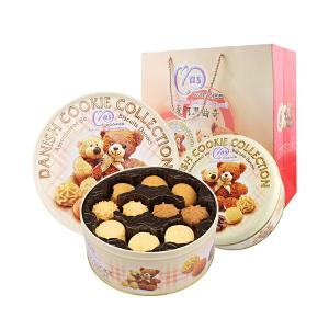 【《都挺好》热播剧同款曲奇】马来西亚进口麦阿思曲奇饼干400g 混合口味罐装小熊松脆曲奇