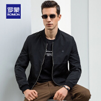 【罗蒙2件1.5折到手价:112】Romon/ 夹克男 中老年 2020春夏新款 时尚上衣爸爸装 商务休闲立领外套