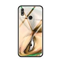 华为nova3i荣耀note10 8x max手机壳玻璃套软索隆动漫瞳眼睛潮