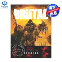 英文原版 Brutal 暴雪高级艺术总监画集 精装 魔兽 进口艺术书