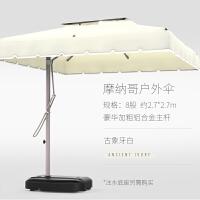 户外花园遮阳伞太阳伞大型雨伞露天阳台庭院伞保安站岗亭伞