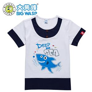 大黄蜂童装 夏季男童短袖t恤 休闲圆领男童上衣中小童 3-8岁