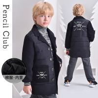 【2件1.5折价:59.7元】铅笔俱乐部童装2021冬季男童儿童卡通棉衣中大童加厚外套保暖