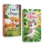 【顺丰速运】英文原版绘本I am a Kitten Puppy 我是一只小猫咪小狗2册儿童启蒙低幼入门绘本纸板撕不烂书