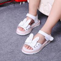 夏女童公主凉鞋童鞋中小童学生鞋儿童凉鞋软底