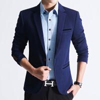 春季款男士时尚小西装男修身青年加厚休闲西服韩版英伦西上衣潮