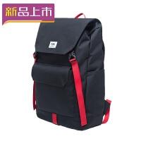 2018休闲背包多功能双肩包男大容量旅行背包户外寸电脑学生书包 黑红色