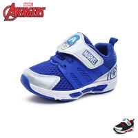 迪士尼Disney童鞋18新款小童灯鞋男童莱卡布网面运动鞋学生鞋透气户外鞋 (5-10岁可选) VA4033