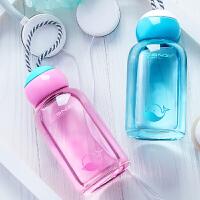 玻璃杯便携水杯创意茶杯儿童随手杯子学生带盖可爱水瓶