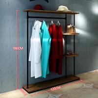 复古铁艺服装架女装服装店展示架上墙货架落地式挂衣架衣帽陈列架 其他