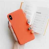 简约橙色苹果x手机壳iphone6s硅胶7plus全包8plus软xs max/xr女款 苹果7/8 磨砂-(纯色)橘