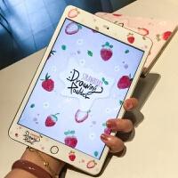 新款2018iPad卡通贴膜2017air2mini3苹果4迷你1防爆膜钢化彩膜9.7