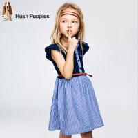 【3件3折:149.7元】暇步士童装夏季新款女童连衣裙时尚拼接小飞袖连衣裙儿童连衣裙